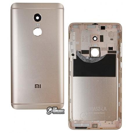 Задняя крышка батареи для Xiaomi Redmi Note 4, Redmi Note 4X, золотистая, Original (PRC), с боковыми кнопками, MediaTek