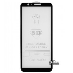Закаленное защитное стекло для Huawei P Smart, 0,26 мм 9H, 3D, черное
