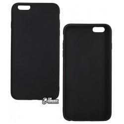 Чехол для iPhone 6 Plus / 6s Plus, Joy, силиконовый, матовый, черный