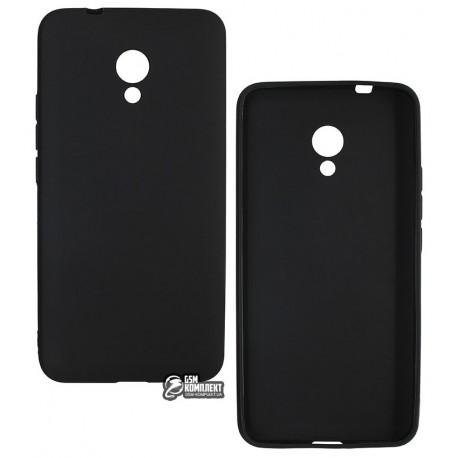 Чехол защитный для Meizu M5s, матовый силиконовый, черный