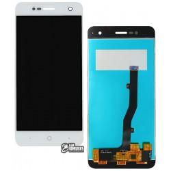 Дисплей для ZTE Blade V8 Mini, белый, с сенсорным экраном, Original (PRC)