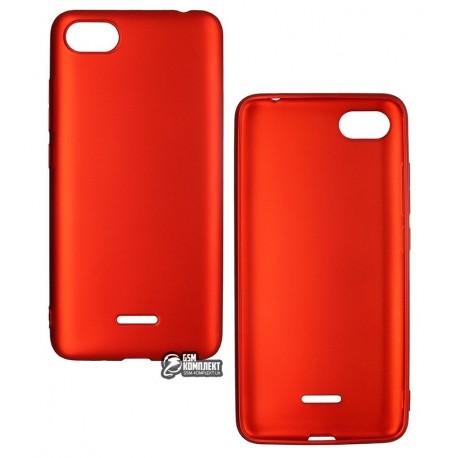Чехол для Xiaomi Redmi 6A, силиконовый, матовый, красный