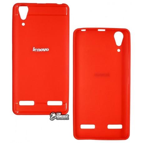 Чехол для Lenovo A6000, A6010, K3 (K30-T), K3 (K30-W), силиконовый, красный