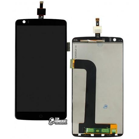 Дисплей для ZTE Axon 7, чорний, з сенсорним екраном