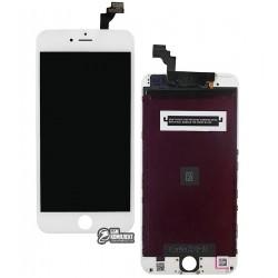 Дисплей iPhone 6 Plus, белый, с сенсорным экраном (дисплейный модуль), с рамкой, High Copy, Kingwo