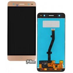 Дисплей для ZTE Blade V7 Lite, золотистый, с сенсорным экраном (дисплейный модуль), original (PRC)