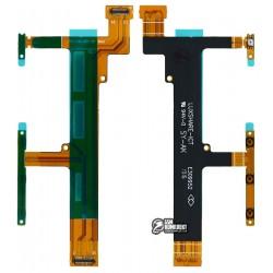 Шлейф для Sony F3112 Xperia XA Dual, F3113 Xperia XA, F3115 Xperia XA, F3116 Xperia XA Dual, боковых клавиш, с компонентами