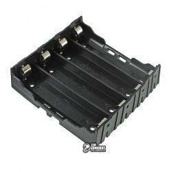 Отсек для батарей 4 x 18650 c контактами для установки на плату