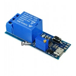Одноканальный релейный модуль для ARDUINO контроллеров 5-30V, с задержкой выключения 0-24 секунд (XY-018)