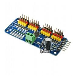 Servo модуль с I2C интерфейсом на PCA9685, 16-канальный 12-bit PWM