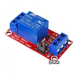Одноканальный релейный модуль для ARDUINO контроллеров 5V, с опторязвязкой