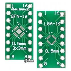 Переходник адаптер QFN16 LGA16 на DIP16