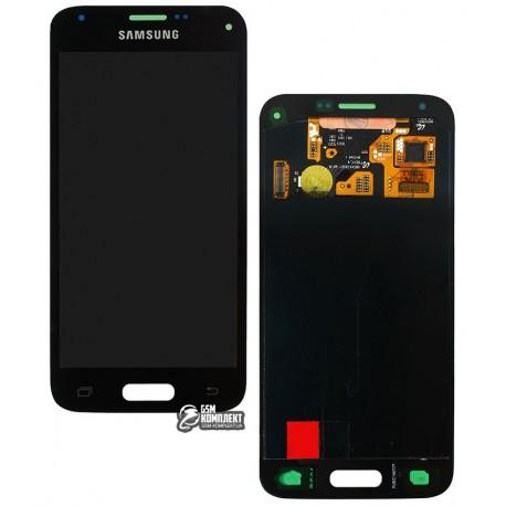 Дисплей для Samsung G800H Galaxy S5 mini; Samsung, чорний, з сенсорним екраном, original (PRC)
