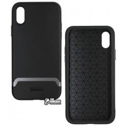 Чехол для iPhone Xs, Ipaky Bumblebee, силикон+пластик, gray