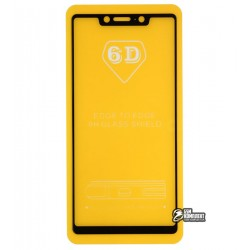 Закаленное защитное стекло для Oppo F5, 0,26 мм 9H, 2.5D, Full Glue, черное