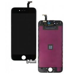 Дисплей iPhone 6, черный, с сенсорным экраном (дисплейный модуль), с рамкой, High Copy