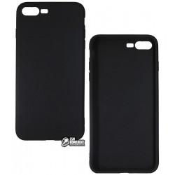 Чехол защитный для Apple iPhone 7 Plus силиконовый, черный