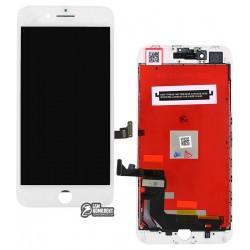 Дисплей iPhone 8 Plus, белый, с сенсорным экраном (дисплейный модуль), с рамкой, High Copy, Kingwo