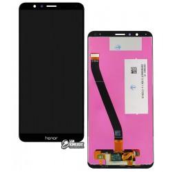 Дисплей для Huawei Honor 7X, черный, с сенсорным экраном (дисплейный модуль), Original (PRC), BND-L21