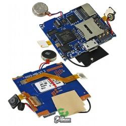 Плата для смарт часов DZ09, с компонентами (коннектор зарядки, SIM, вибро,шлейф с кнопкой, камера)