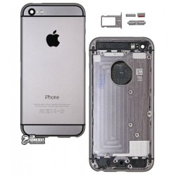 Корпус для Apple iPhone 5, черный, имитация iPhone 6