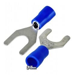 Наконечник вилочный изолированный SVL2-6, 1,5-2,5мм2, Ø6,5мм, синие, 10шт