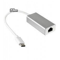 Адаптор ETHERNET USB type C 3.1 (шт.USB C- гн.8Р8С)