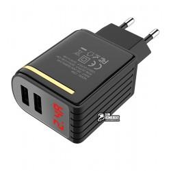 Зарядное устройство Hoco C39A Enchanting с LED дисплеем (2USB, 2.4A)