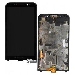 Дисплей для Blackberry Z30, черный, с сенсорным экраном (дисплейный модуль), с рамкой, версия 4G