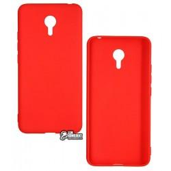 Чехол для Meizu M3 Note, Smtt, силиконовый, красный