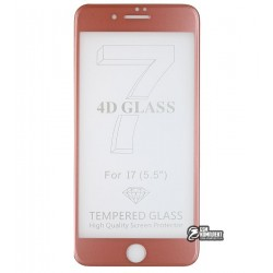 Закаленное защитное стекло для Apple iPhone 7 Plus / 8 Plus, 3D, 0,1mm, 9H, розовое золото