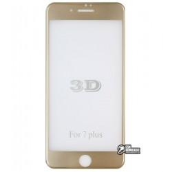 Закаленное защитное стекло для Apple iPhone 7 Plus / 8 Plus, 3D, 0,1mm, 9H, золотое