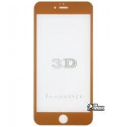 Закаленное защитное стекло для Apple iPhone 6 Plus, iPhone 6S Plus, 0,26 мм 9H, 3D, золотое