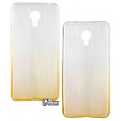 Чехол для Meizu M3 Note, силиконовый, желтый