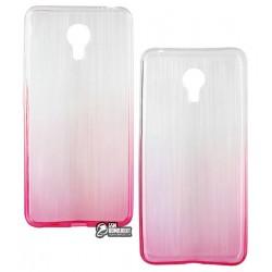 Чехол для Meizu M3 Note, силиконовый, розовый