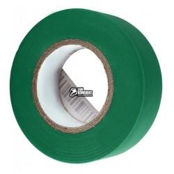 Изолента зелёная, ширина 18мм, длина 20м