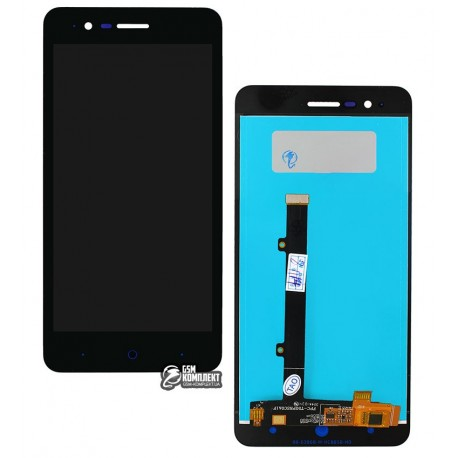 Дисплей для ZTE Blade A510, чорний, з сенсорним екраном