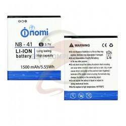 Аккумулятор NB-41 для Nomi i400 Beat, Li-ion, 3,7 В, 1500 мАч, original