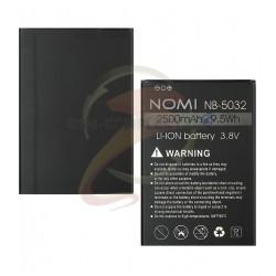 Аккумулятор NB-5032 для Nomi i5030 Evo X2, Li-ion, 3,7 В, 2500 мАч, original