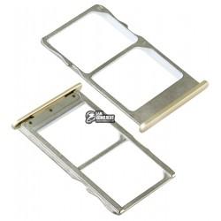 Держатель SIM-карты для Meizu MX6, золотистый