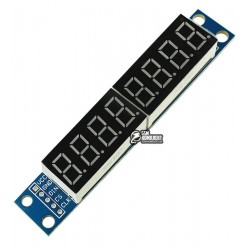 Модуль из восьми семисегментных индикаторов на MAX7219 для Arduino
