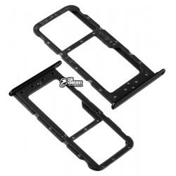 Держатель SIM-карты для Huawei Honor 9 lite, c держателем MMC, черный