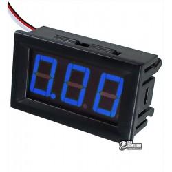 Вольтметр цифровой 0-30V DSN-DVM-568L-3 встраиваемый, три провода, синий