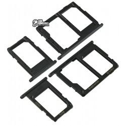 Держатель SIM-карты для Samsung G570F/DS Galaxy J5 Prime dual sim, комплект 2 шт., c держателем MMC, черный