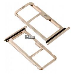 Держатель SIM-карты для Huawei Mate 10 (ALP-L09), Mate 10 (ALP-L29), розовый, c держателем MMC, pink gold