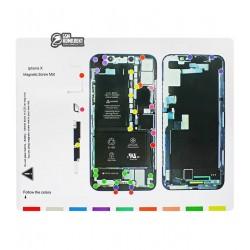 Магнитный мат Mechanic iPX для раскладки винтов и запчастей ( для iPhone X )