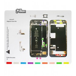 Магнитный мат Mechanic iP8 для раскладки винтов и запчастей ( для iPhone 8 )