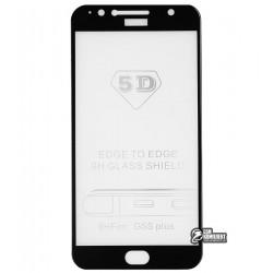 Закаленное защитное стекло для Motorola XT1805 Moto G5s Plus, 3D Glass, 0.26 мм 9H, черное