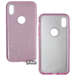 Чехол для iPhone X, TOTO, силиконовый, Rose series 3in1, фиолетовый