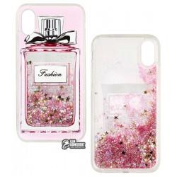 Чехол для iPhone X, iPhone XS, Stardust, силикон+пластик, с блестками, PPink Parfum